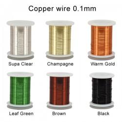 PACK 6PC Hilo de cobre AGC de colores 0.1mm